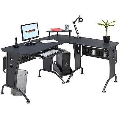 Large Corner Computer Desk with Keyboard Shelf Home Office Piranha Unicorn PC21g