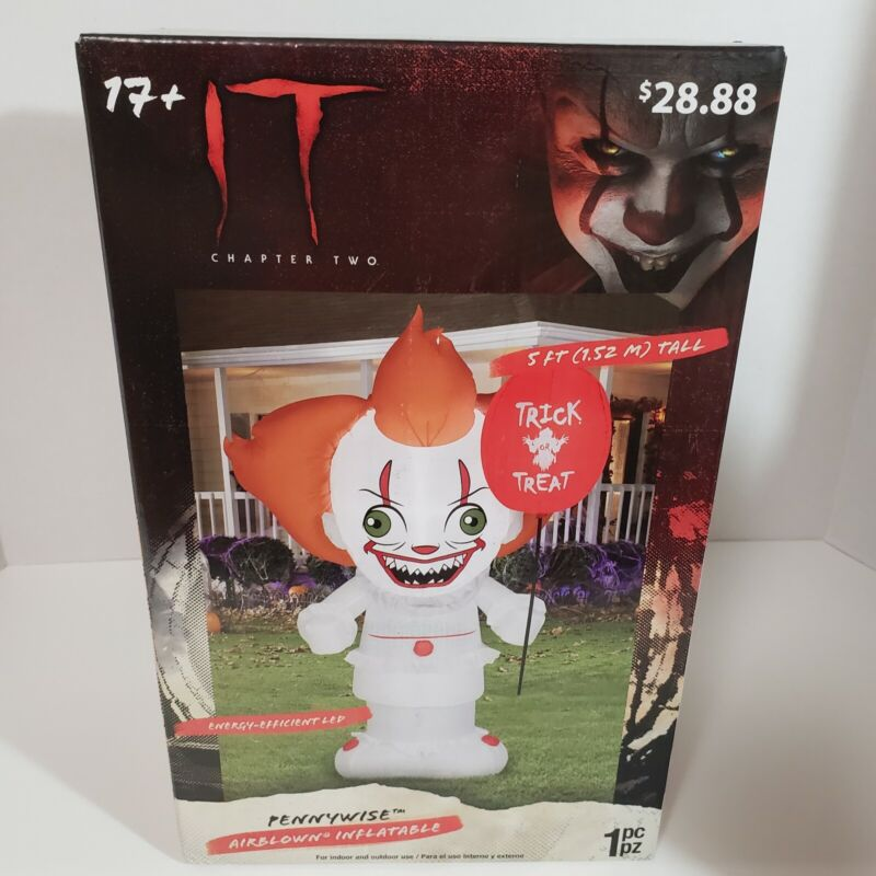 Airblown Inflatable Light Up Pennywise IT Halloween Decoration NEW In Box
