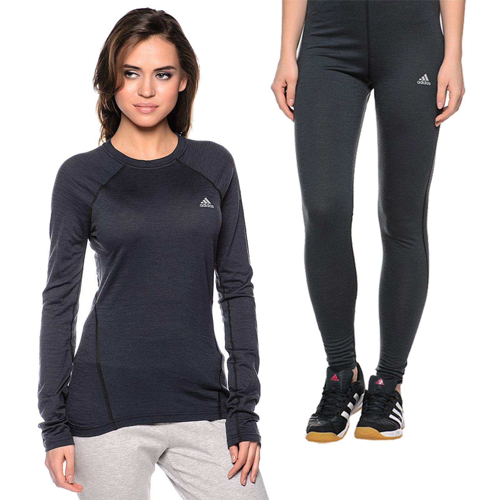 adidas Baselayer Wool Set Damen Shirt Leggings Langarmshirt