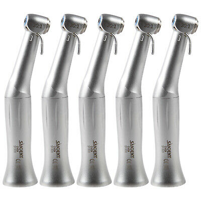 5 Pc Nsk Style 201 Dental Contra Angle Handpiece Implant Turbine Push Button