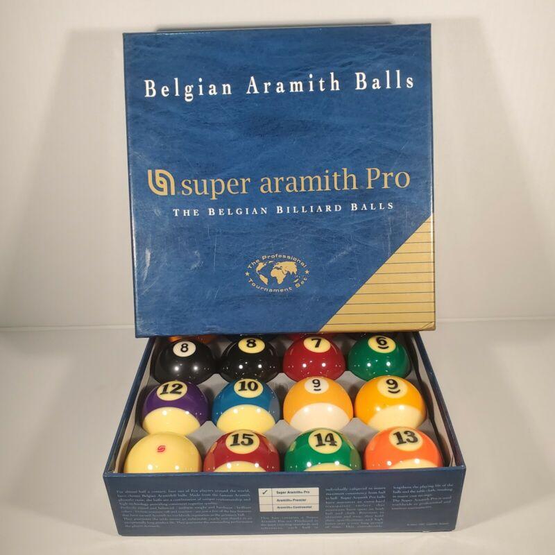 Super Aramith Pro Belgian Billiard Pool Balls Set READ DESCRIPTION