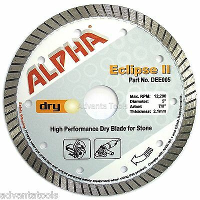 5 Alpha Eclipse Ii Diamond Saw Blade For Stone Tile Granite Hard Concrete
