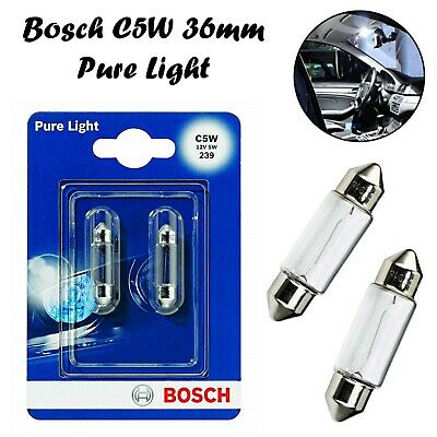 2x Bosch C5W 36mm 12V 1987301004 Pure Light Innenbeleuchtung Soffitte Auto Lampe
