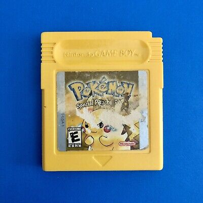 Pokemon Yellow Special Pikachu Edition (Game Boy Color) Authentic w New Battery