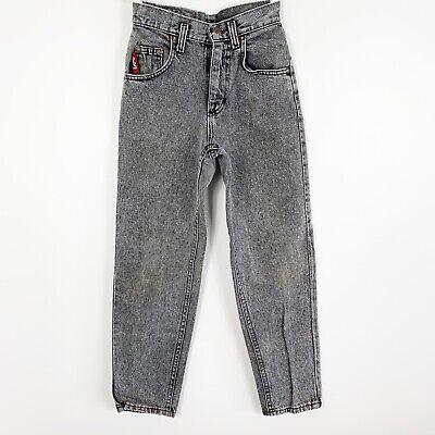 Vintage Youth Boys Lee Black Gray Wash Denim Jeans Straight Fit Size 12 Slim ()