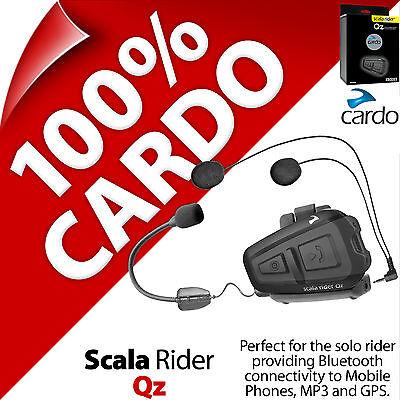 New Cardo Scala Rider Qz (Single) Bluetooth Motorcycle Helmet Intercom Headset