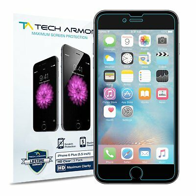 Tech Armor HD Clear Screen Protector [3-Pack] for Apple iPhone 6 Plus ()