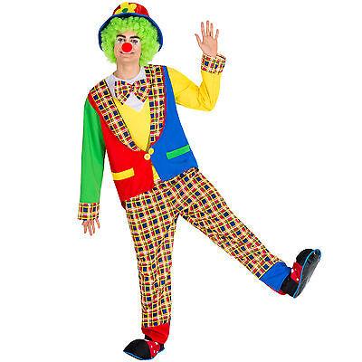 Herrenkostüm Clown Clownkostüm Harlekin Fasching Karneval Herren mit - Herren Clown Kostüm