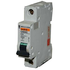 Merlin gerin c60hc c10 multi 9 240v 415v 1 pole circuit - Merlin gerin multi 9 ...
