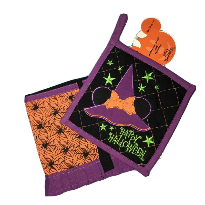 Disney Halloween Towel & Pot Holder NWT NLA HTF