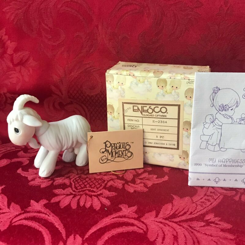 """PRECIOUS MOMENTS 1982 """"E-2364"""" """"GOAT"""" NEW IN BOX-NEVER DISPLAYED-MINT"""