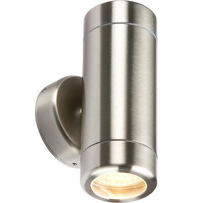 Knightsbridge Stainless Steel Double Up & Down Outdoor Light Fitting GU10 35W