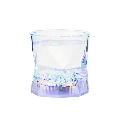 2 Flashing Water Activated LED Glass Glowing Liquid Tumbler Light Up Party Cup  - Plastic Party Glassware