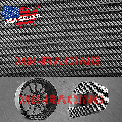 19x38 Hydrographic Film Hydro Dipping Dip Water Transfer Black Carbon Fiber 6