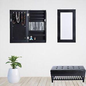 Cabinet à Bijoux Avec Miroir Flottant Mural