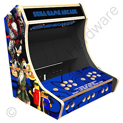 "BitCade 2 Player 19"" Bartop Arcade Cabinet Machine with Mixed Sega Artwork"