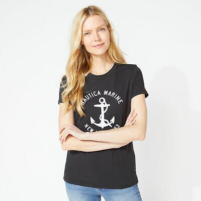 Nautica Womens Nautica Marine Graphic Tee