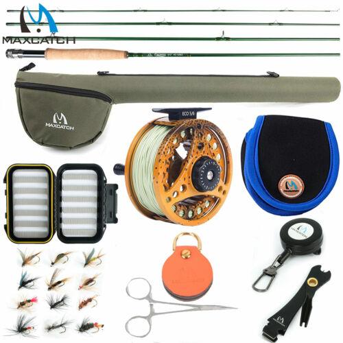 Maxcatch Premier Fly Fishing Rod Combo Kit 3/4/5/6/7/8 WT Fly Rod, ECO Fly Reel