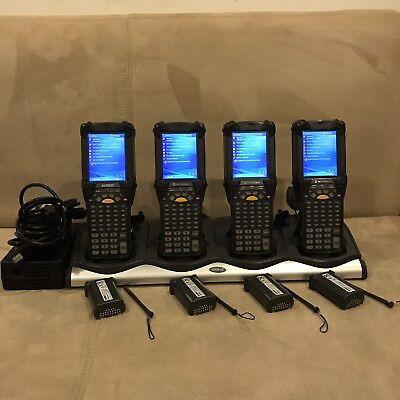 Lot Of 4 Symbol Motorola Mc9090-gf0hjefa6wr Windows Barcode Scanner W Extras