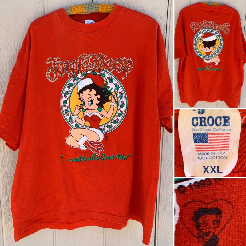 Vintage Jingle Boop And Ro All A Good Nite T-Shirt Front & Back Graphics XXL