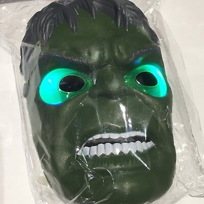 NEW HULK LED Light Up KIDS Mask MARVEL SUPERHERO INFINITY WAR UK SELLER