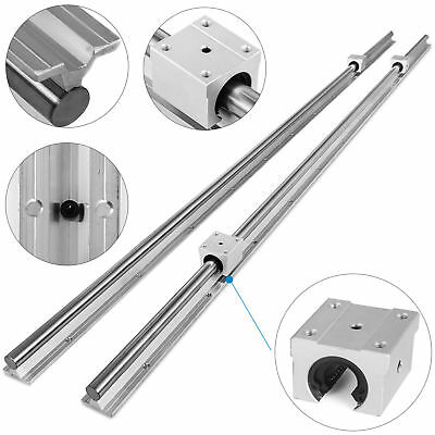 New Sbr20 800mm Supported Linear Rail Shaft Rod With 4 Pcs 20 Mm Sbr20uu