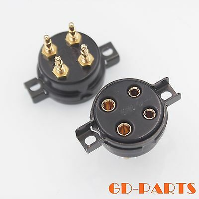 300b 2a3 For Large Four-leg Flat Gold-plated Tube Socket Free Shipping Sensors