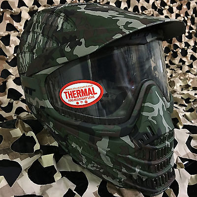 NEW JT Flex 8 Full Coverage Thermal Paintball Mask Helmet Goggle - Camo