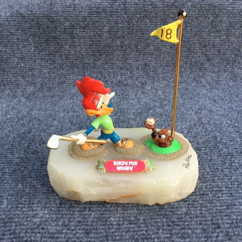 "Limited Edition Ron Lee ""Birdy for Woody"" Woody Woodpecker Golf Sculpture Signed"