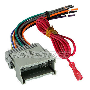 aftermarket car stereo radio to chevrolet wiring wire harness adapter 70 2003 ebay
