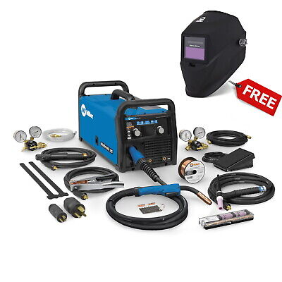 Miller Multimatic 215 Multiprocess Welder With Tig Kit And Free Helmet 951674