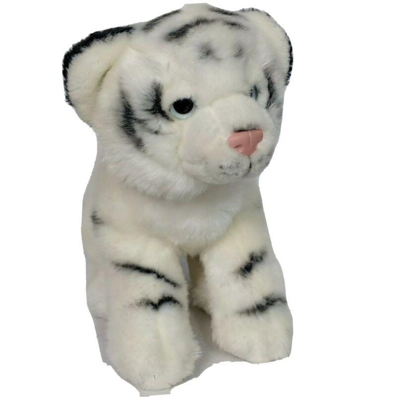 "Toys R Us Bengal White Tiger Zoo Animal Plush Stuffed Animal 2012 9"" Tall"