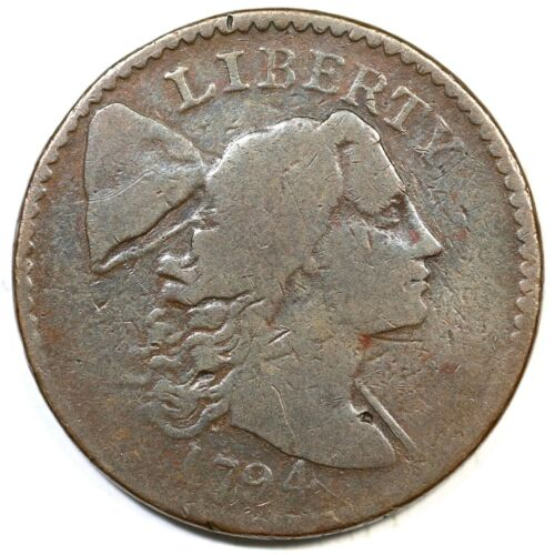 1794 S-47 R-4 Head of 94 Liberty Cap Large Cent Coin 1c