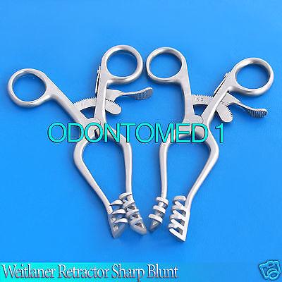 2 Weitlaner Retractor Sharp Blunt 5.5 Surgical Instruments