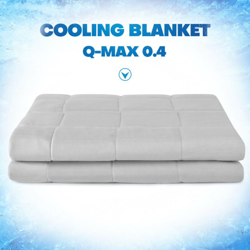 Lightweight Summer Cooling Blanket Breathable Q-Max 0.4 Double Sided Queen King