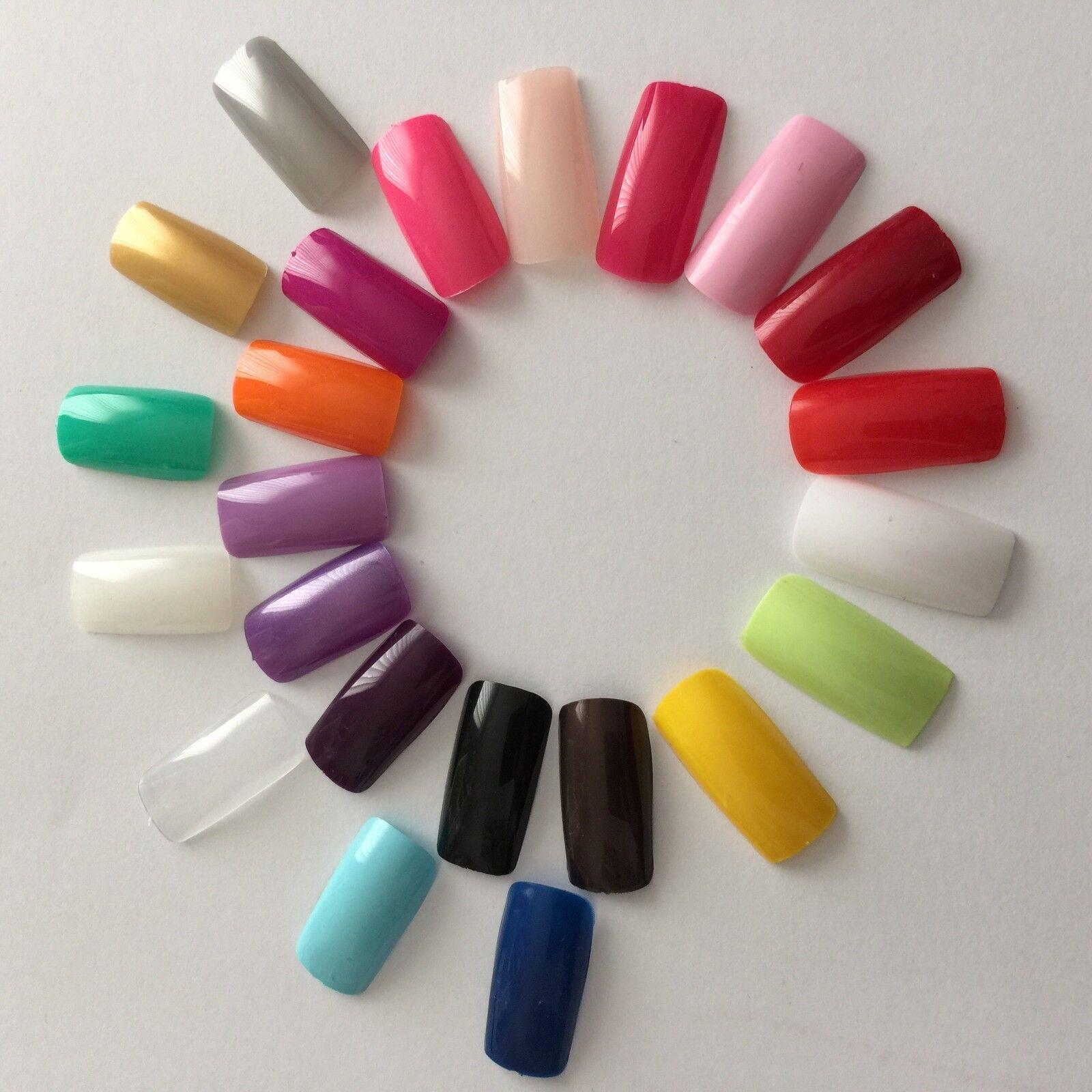 Künstliche Fingernägel Full Size Cover Nail Tips in vielen Farben Square Nails