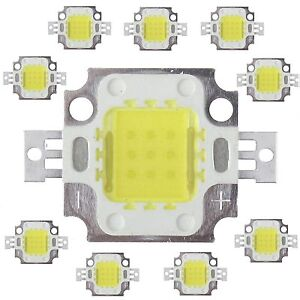 10pcs-10W-Cool-White-High-Power-800-900LM-LED-light-Lamp-SMD-Chip-DC-9-12V