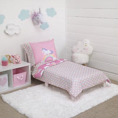 Carter's® Rainbow Unicorn 4 Piece Toddler Bedding Set