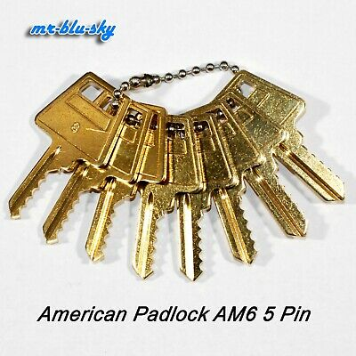 American Padlock Am6 Space Depth Keys Locksmith Code Cutting Key Set