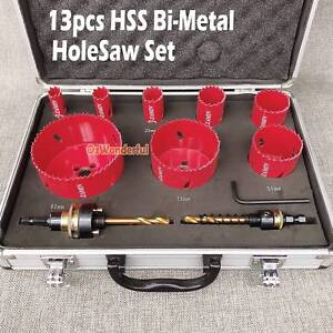 13pc Hole Saw Co8% Bi Metal HSS Holesaw Plumbing Electricians Epping Whittlesea Area Preview