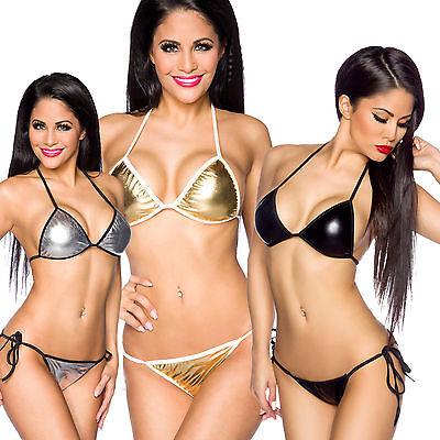 Bikini, Bademode, 2-Teiler, Triangel, glanz, one size
