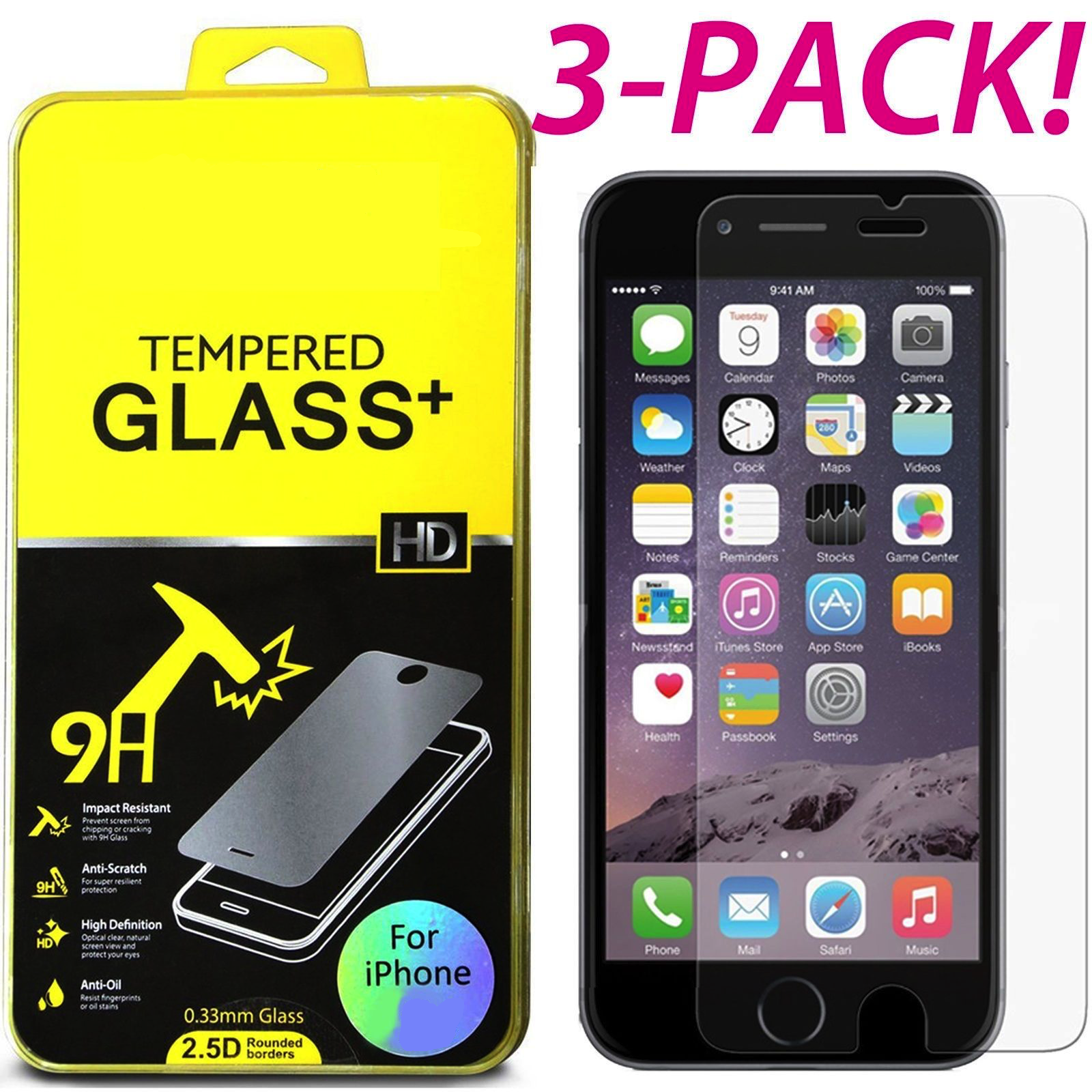 Купить Premium Real Screen Protector Tempered Glass Protective Film For iPhone 7