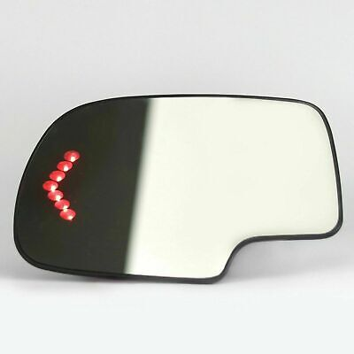 Mirror Glass Heated Turn Signal Driver Side LH for 2003-2007 Chevy GMC covid 19 (Driver Side Chevrolet coronavirus)