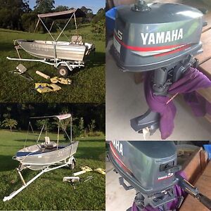 3.95m Tinny 5hp Yamaha Trailer Quintrex Boat Punt For Sale Stuarts Point Kempsey Area Preview