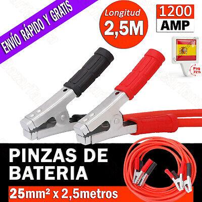 PINZAS CABLE PARA BATERIA DE COCHE MOTO CABLES PUENTE ARRANQUE EMERGENCIA 1200...