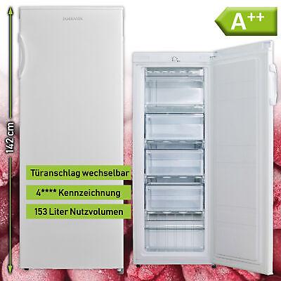Gefrierschrank Tiefkühlschrank A++ 142 cm hoch 153 L Eisschrank Gefriertruhe NEU Kühlschrank-schrank