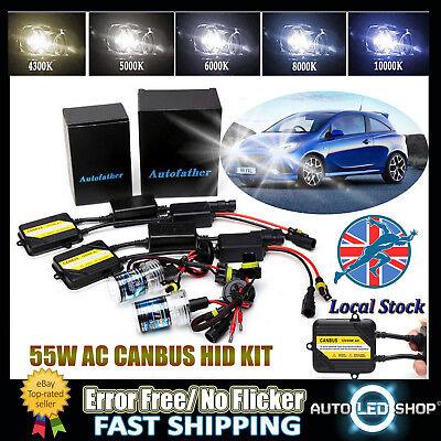 For VAUXHALL CORSA C CORSA D 55W AC H7 HID Xenon Error Free Bulbs Kit All Colors
