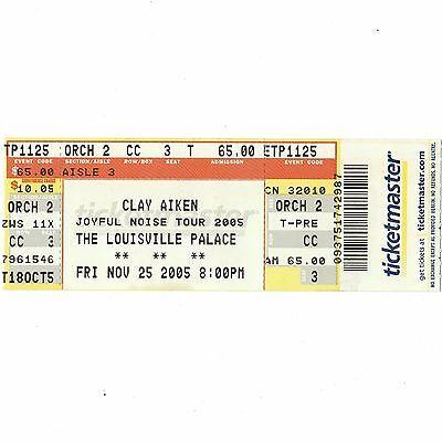 CLAY AIKEN Full Concert Ticket Stub LOUISVILLE 11/25/05 AMERICAN IDOL HERO Rare