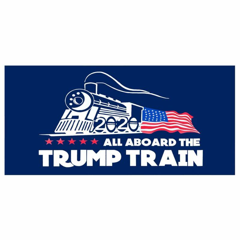 Donald Trump Bumper Sticker 2020 All Aboard The Trump Train