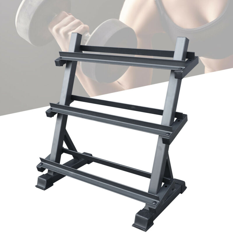 Dumbbell Rack Stand Three-tier Home Gym Weight Storage Rack 1100lb Heavy Duty